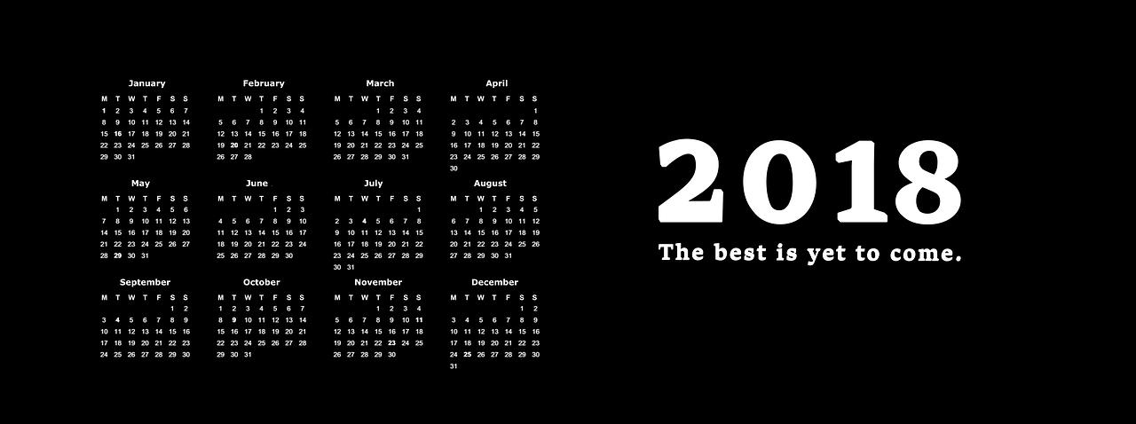 digital marketing 2018 calendar